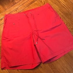 Ralph Lauren Red Drawstring Shorts